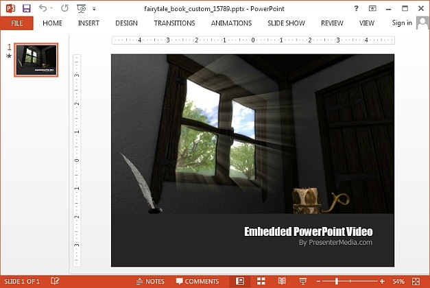 Fairy tale video animation for PowerPoint