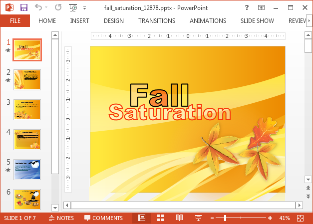 Fall leaves animation for PowerPoint