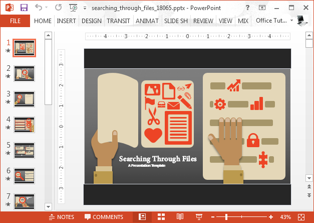 File search PowerPoint template