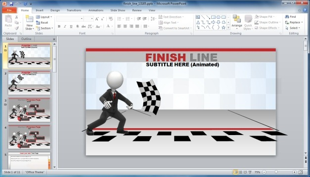 Finish Line PowerPoint Template