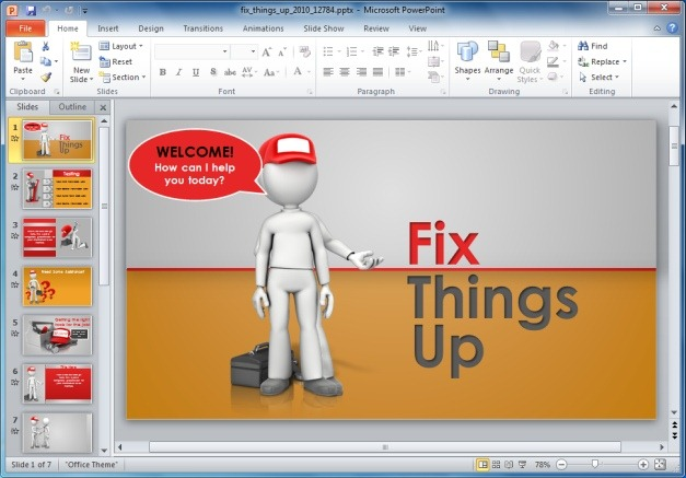 Fix Things Up PowerPoint Template