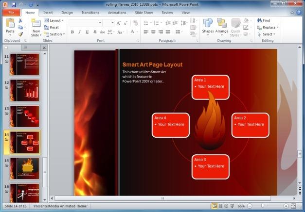 Flames SmartArt