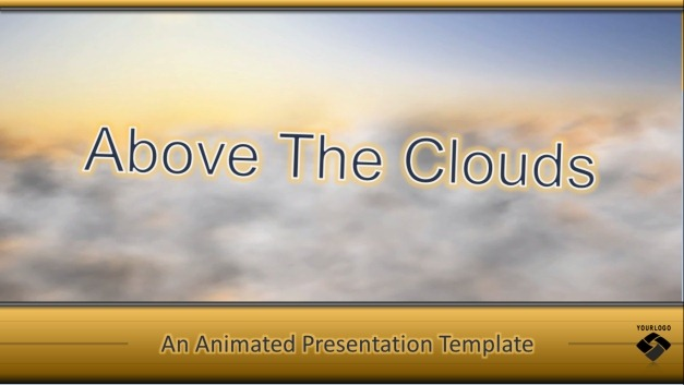 Flying Above The Clouds PowerPoint Template