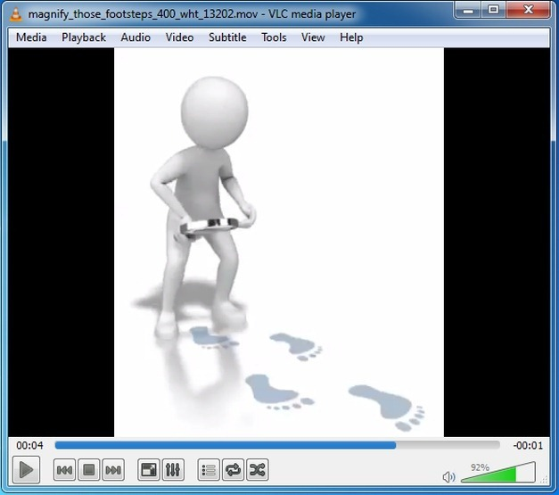 Footsteps animation for PowerPoint