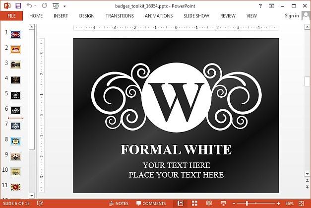 Formal logo slide