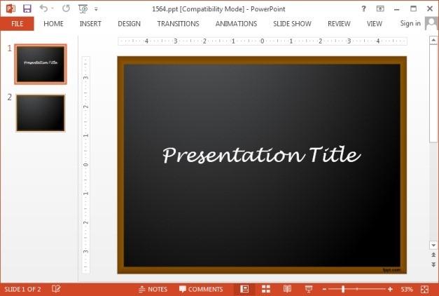 Free chalkboard PowerPoint template