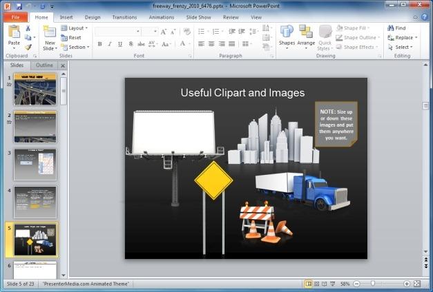 Freeway Frenzy PowerPoint Clipart