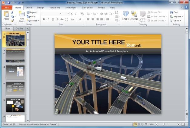 Freeway Frenzy PowerPoint Template