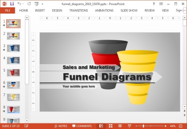 Funnel diagrams for PowerPoint