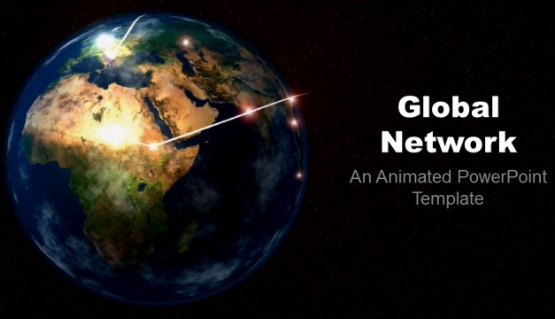 Global Network Animated PowerPoint Template