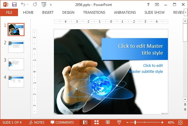 Global business trends template for PowerPoint