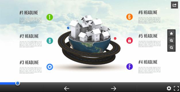Global village template for Prezi