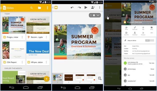 Google Slides for Android