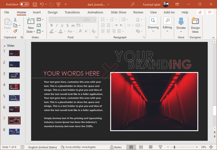 Gothic template for presentations