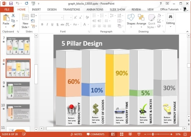 Graph Blocks for PowerPoint