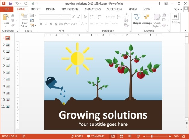 Growing solutions presentation template
