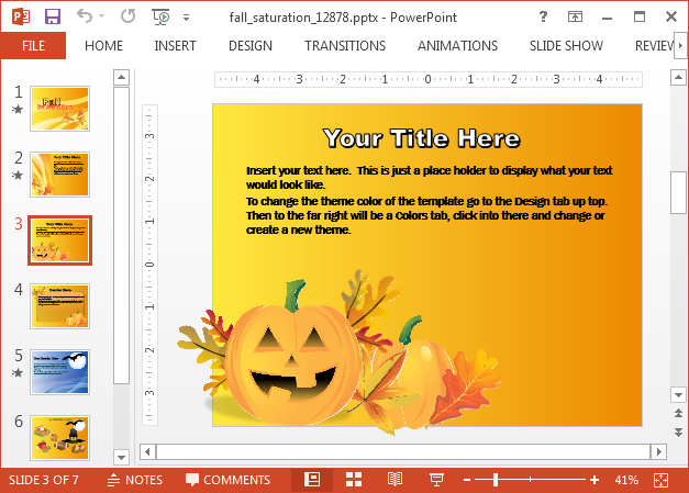 Halloween slide background for PowerPoint