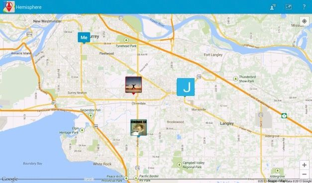 Hemisphere App Alternative For Google Latitude