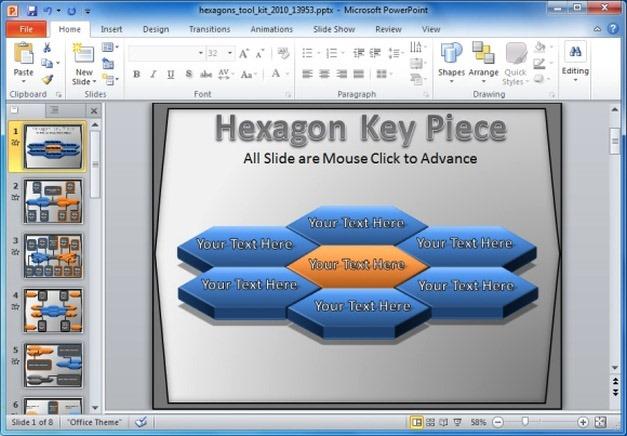 Hexagon PoerPoint Template