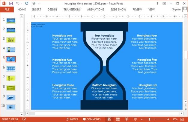 Hourglass diagram slide