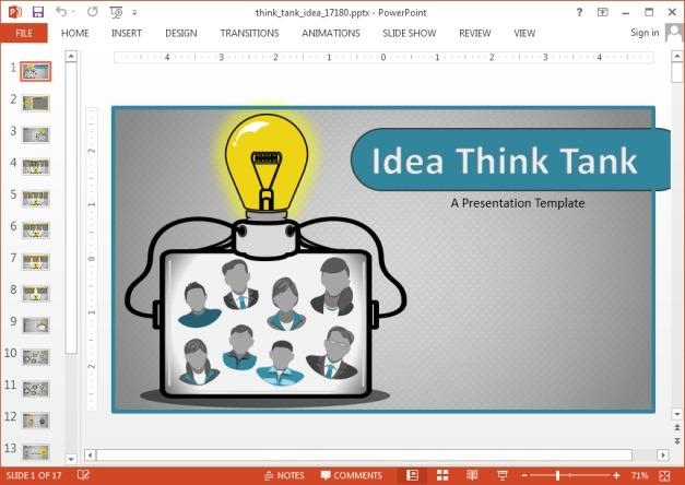 Idea think tank PowerPoint template