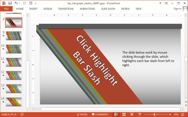 Infographic slide design