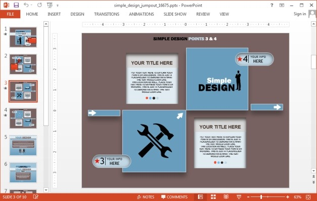 Infographic template for PowerPoint