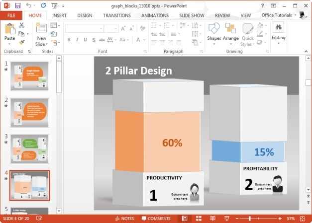 Infographics Bar Chart Template for PowerPoint