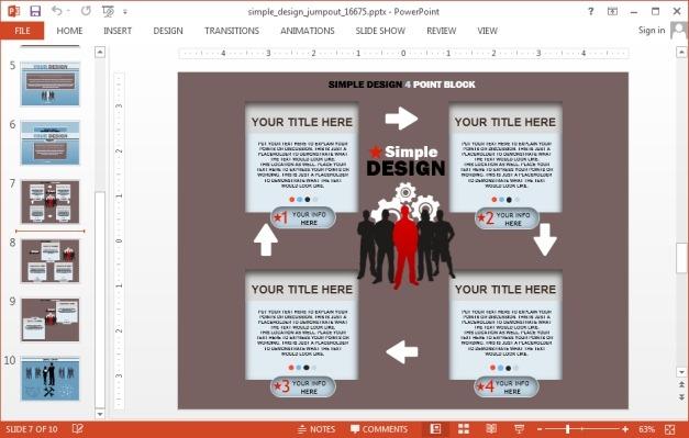 Infographics design for PowerPoint slides