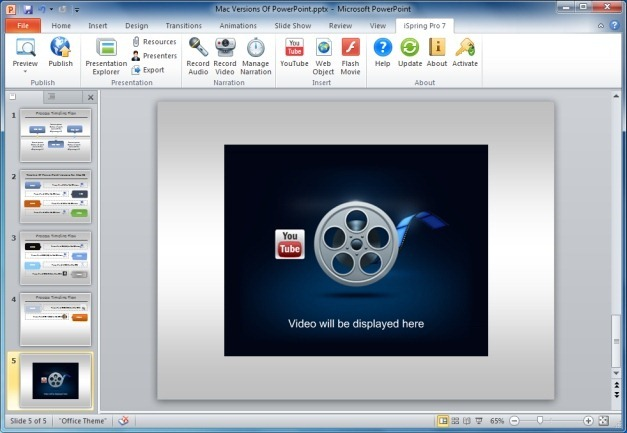 Insert And Play YouTube Videos in PowerPoint