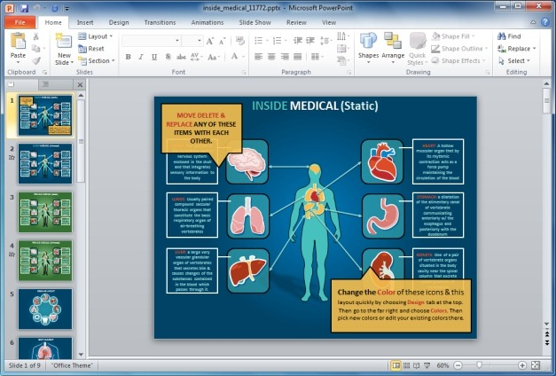 Inside Medical PowerPoint Template