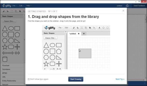 Instructions for making diagrams