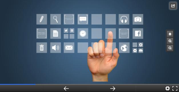 Interactive media template for Prezi