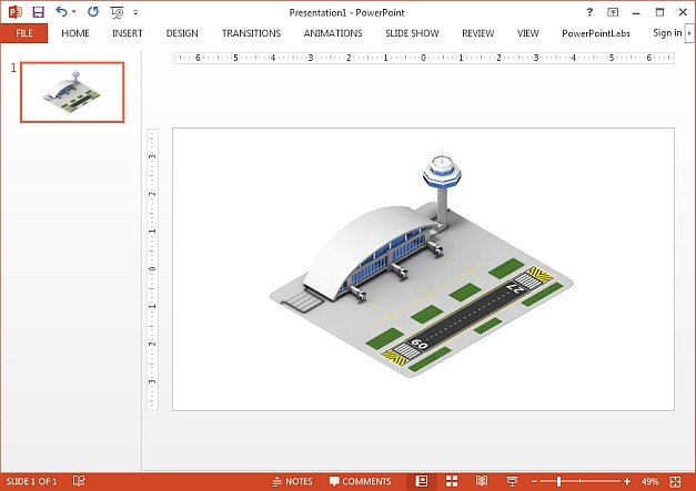 Isometric airport clipart image