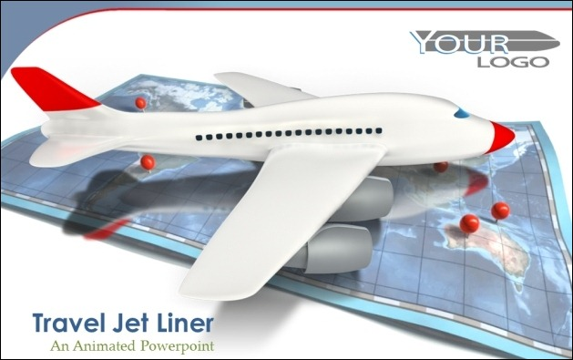Jet Airplane PowerPoint Template