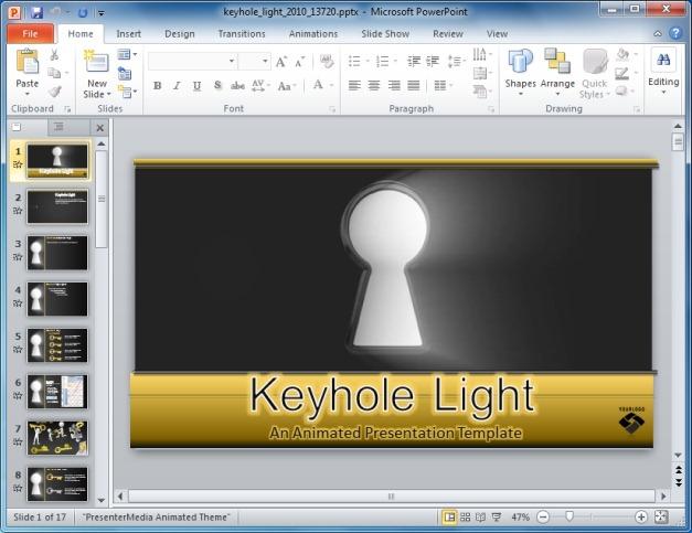 Keyhole Light PowerPoint Template