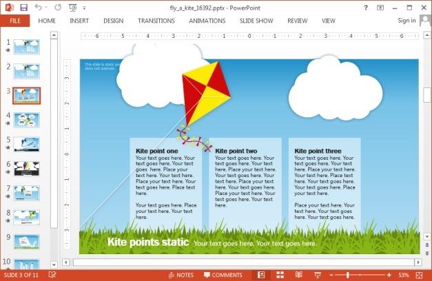 Kite PowerPoint template
