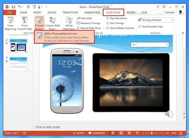 Launch The Office Presentation Service From PowerPoint 2013