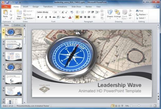 Leadership Wave PowerPoint Template