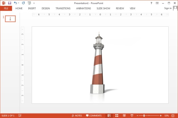 Lighthouse clipart for PowerPoint