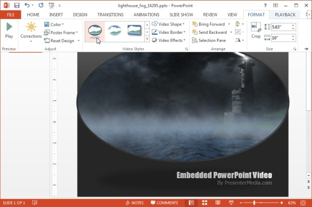 Lighthouse template for  PowerPoint