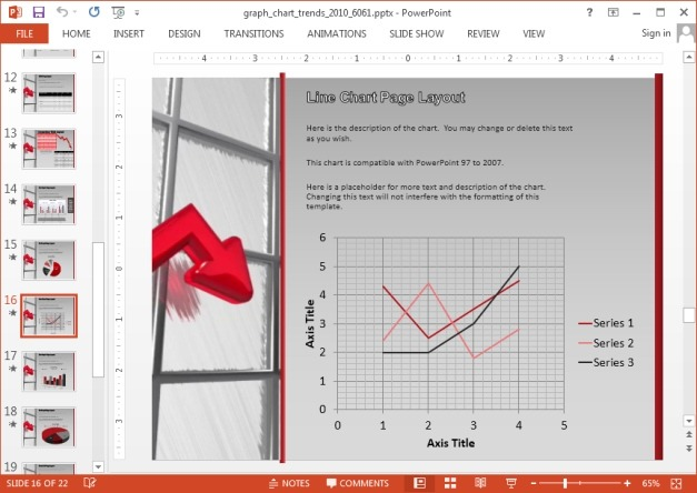 Line chart for PowerPoint