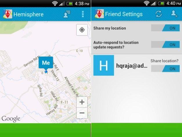 Location Sharing With Hemisphere