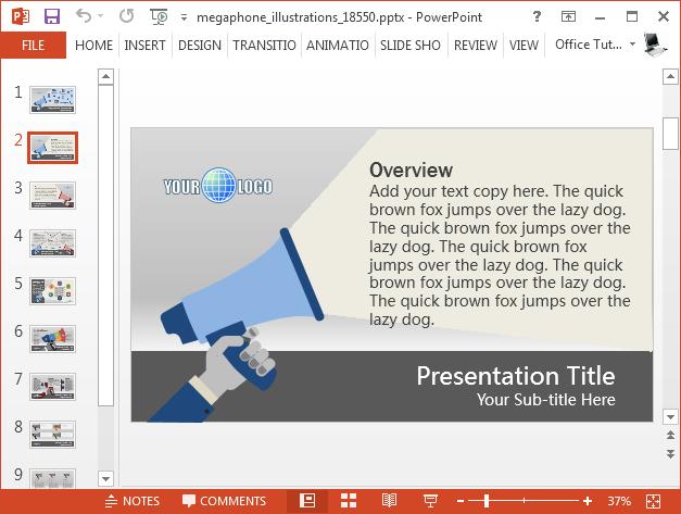 Loudspeaker content slide