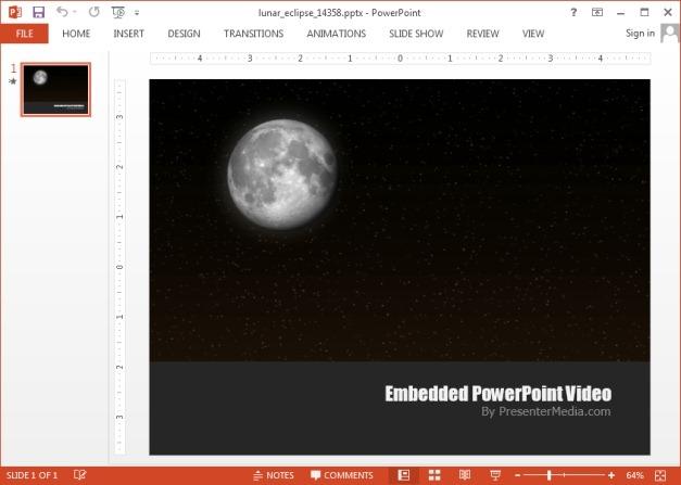 Lunar eclipse PowerPoint video background template