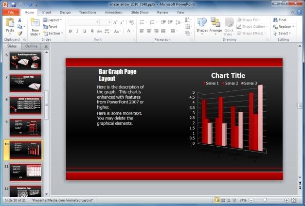 Maze Template Bar Graph