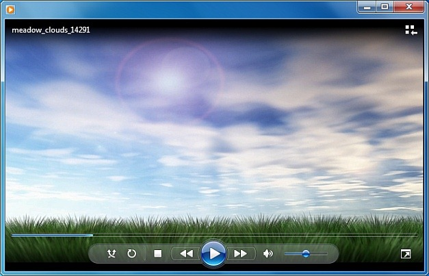 Meadow clouds video template