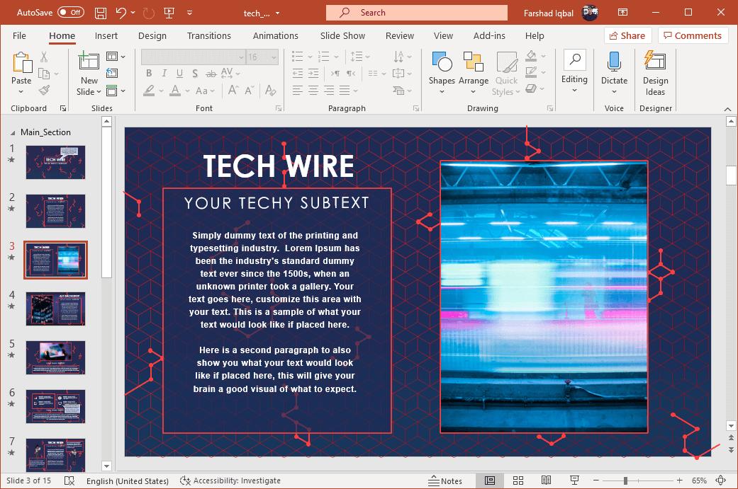 Mind blowing slide design