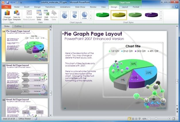 Molecule PowerPoint Charts