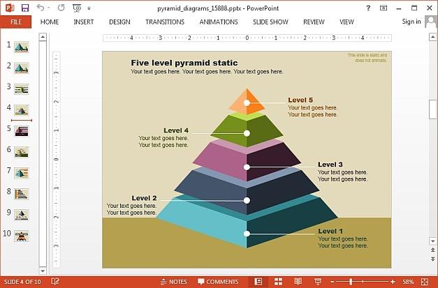 Multi level pyramid diagram
